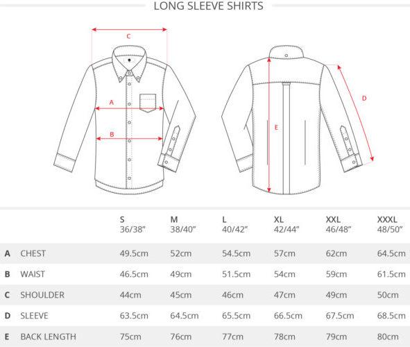 art gallery shirt size guide