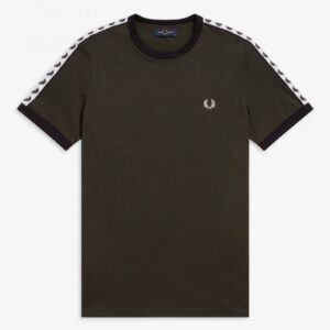 Fred Perry Taped T Hunting Green