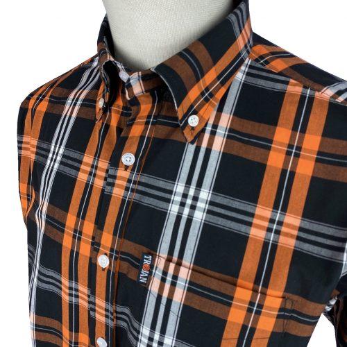 Trojan Orange Check Shirt