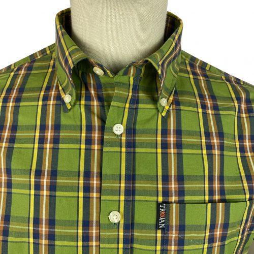 Trojan Green Check Shirt