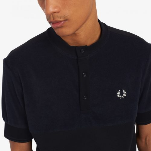 Fred Perry Towelling Panel Henley