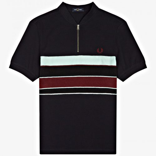 Fred Perry Towelling Zip Neck Polo
